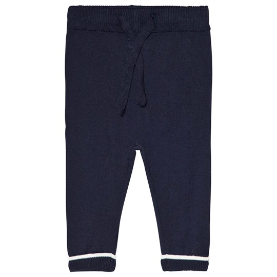 Cyrillus Navy Knit Trousers 6399