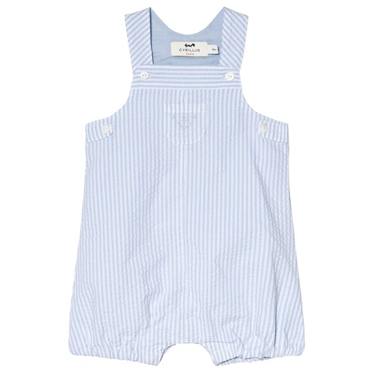 Cyrillus Blue and White Short Overalls 6388