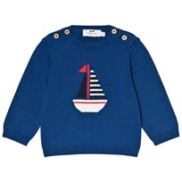 Cyrillus Blue Sailboat Knit Jumper 1220