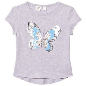 Image of GAP Butterfly T-Shirt Lilac S (6-7 år) (2981305839)