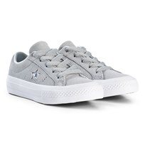 Converse Grey One Star OX Junior Trainers BLACK/WHITE/BLACK