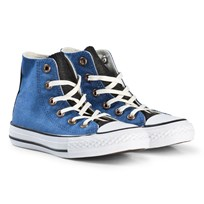 Converse Blue Chambray Chuck Taylor All Star Junior Hi Tops BLACK/WHITE/BLACK