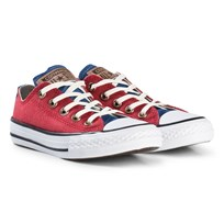 Converse Red Chambray Chuck Taylor All Star OX Junior Trainers BLACK/WHITE/BLACK