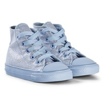 Converse Blue Chill Glitter Chuck Taylor All Star Infants Hi Tops BLACK/WHITE/BLACK