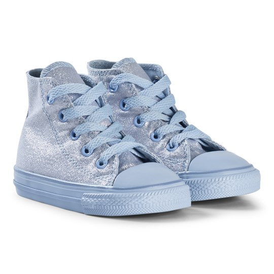 Converse Chill Glitter Chuck Taylor All Star Infants Hi Tops Blue BLACK/WHITE/BLACK