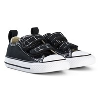 Converse Black Chuck Taylor All Star V OX Infants Trainers BLACK/WHITE/BLACK