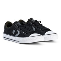 Converse Black Star Player OX Junior Trainers BLACK/WHITE/BLACK