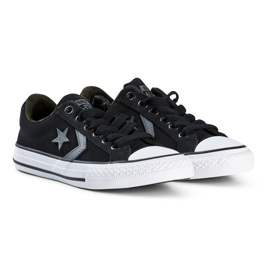 9b63784cfacdbf Converse - Black Star Player Junior Trainers - Babyshop.com