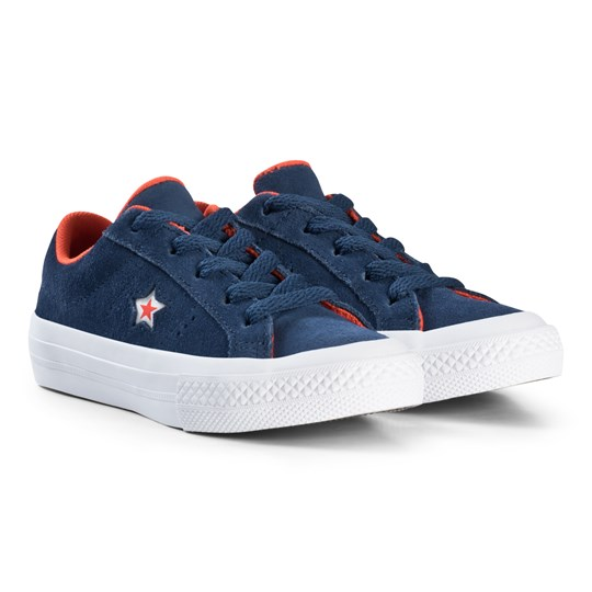Converse One Star OX Junior Trainers Navy BLACK/WHITE/BLACK
