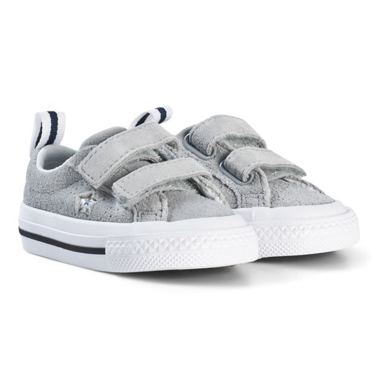 Converse One Star 2V OX Infants Trainers Gray BLACK/WHITE/BLACK