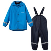 Didriksons Slaskeman Kid's Rain Set Sharp Blue Sharp Blue