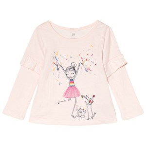 Image of GAP Pale Pink Embellished Graphic Top 2 år (2985913871)