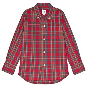 Image of GAP Pure Red Check Shirt M (8 år) (2985914603)