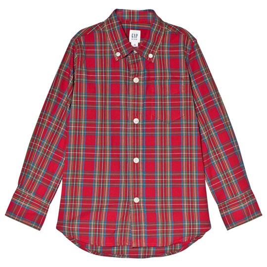 GAP Pure Red Check Shirt PURE RED V2