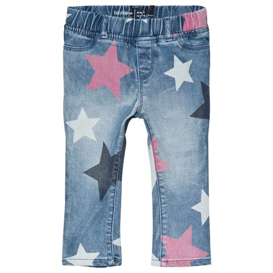 a8fc81029cf44 GAP - Dark Indigo Blue Star Jeggings - Babyshop.com