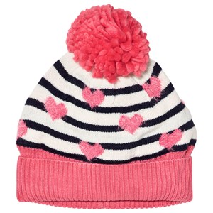 Image of GAP Blue Breton Stripe Pom Pom Hat XS/S (48 cm) (1081906)