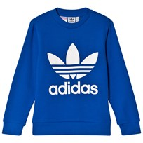 adidas Originals Blue Boys Logo Crew Sweater Blue/White