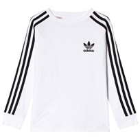 adidas Originals White Boys Branded Crew Sweater White/Black