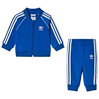 adidas Originals Blue Branded Infants Sweater and Joggers Set Blue