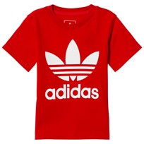 adidas Originals Red Boys Logo Infants Tee SCARLET/WHITE