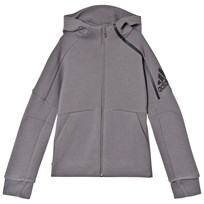 adidas Performance Grey Boys Zone Hoodie GREY FOUR F17