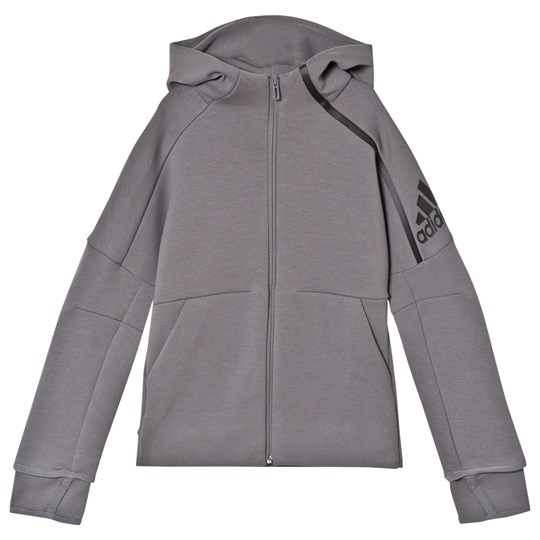 adidas Performance Grey Zip Hoodie GREY FOUR F17