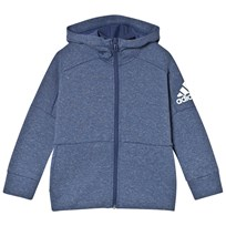 adidas Performance Navy Boys Stadium Full Zip Hoodie STADIUM HTR/NOB INDG/WHITE