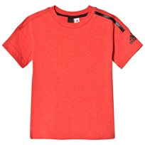 adidas Performance Red Boys Zone Tee HI-RES RED MEL./BLACK