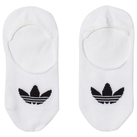 adidas Originals White Branded No Show Socks White/Black