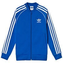 adidas Originals Blue Branded Full Zip Top Blue