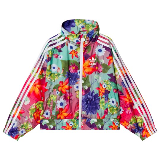 adidas Originals Pink Flower Printed Jacket Multicolor