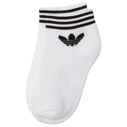 adidas Originals White Logo Ankle Socks White