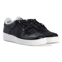 NIKE Black and White Nike Air Force 1 Shoes 012