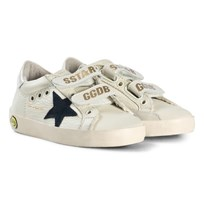 Golden Goose Off-white Superstar Old School Velcro Trainers CREAM LEATHER-BLUE STAR
