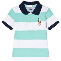 Ralph Lauren Mint Green and White Stripe Big Pony Polo 004