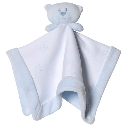 Emile et Rose Bear Comforter Blue and White Pale Blue