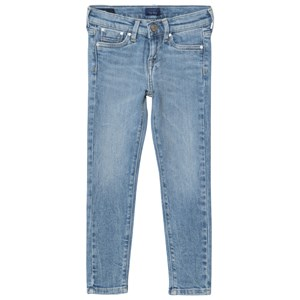 Image of Pepe Jeans Blue Pixlette Light Wash Skinny Jeans 12 years (2983985377)