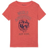 Pepe Jeans Red Floy World Adventure Tier Graphic Tee 244