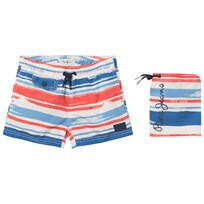 Pepe Jeans Blue and Red Elton Swim Shorts 08A