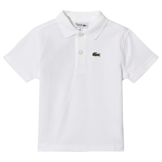 Lacoste White Classic Tennis Super Light Ribbed Collar Shirt 001