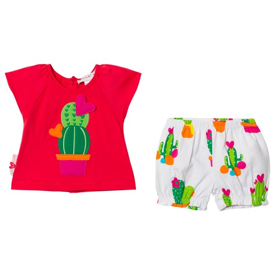 Agatha Ruiz de la Prada Red and White Cactus Print Top and Shorts R01