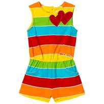 Agatha Ruiz de la Prada Multicolored Striped Playsuit With Hearts XYZ