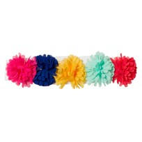 Agatha Ruiz de la Prada White Hairband With Multi Coloured Pom Poms W00