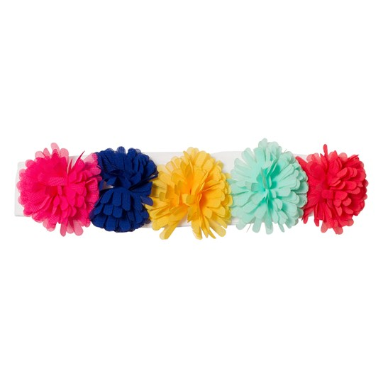 Agatha Ruiz de la Prada White Multicolored Pom Pom Hairband W00