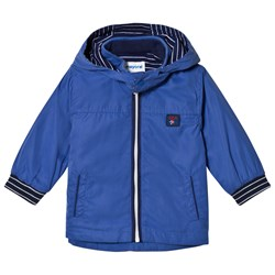 Mayoral Navy Hooded Windbreaker with Stripe Lining
