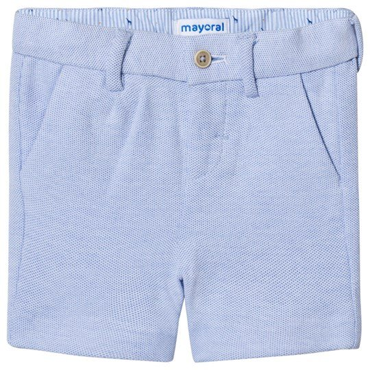 Mayoral Blue Oxford Knit Shorts 14