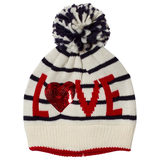 GAP Blue Breton Stripe Love Heart Hat BRETON STRIPE BLUE