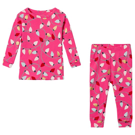 GAP Bright Pink Festive Pyjamas Shocking Pink