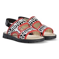 Moschino Kid-Teen Red and Black Logo Sandaler 9101