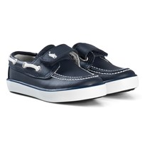 Ralph Lauren Batten Velcro Boat Shoes Navy Navy